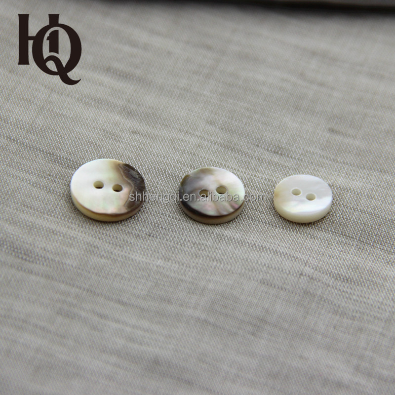 High-end special holes shaped sewing shell button for clothes