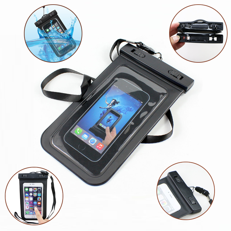 Wholesale Waterproof Phone Case with compass,PVC Waterproof Bag with compass