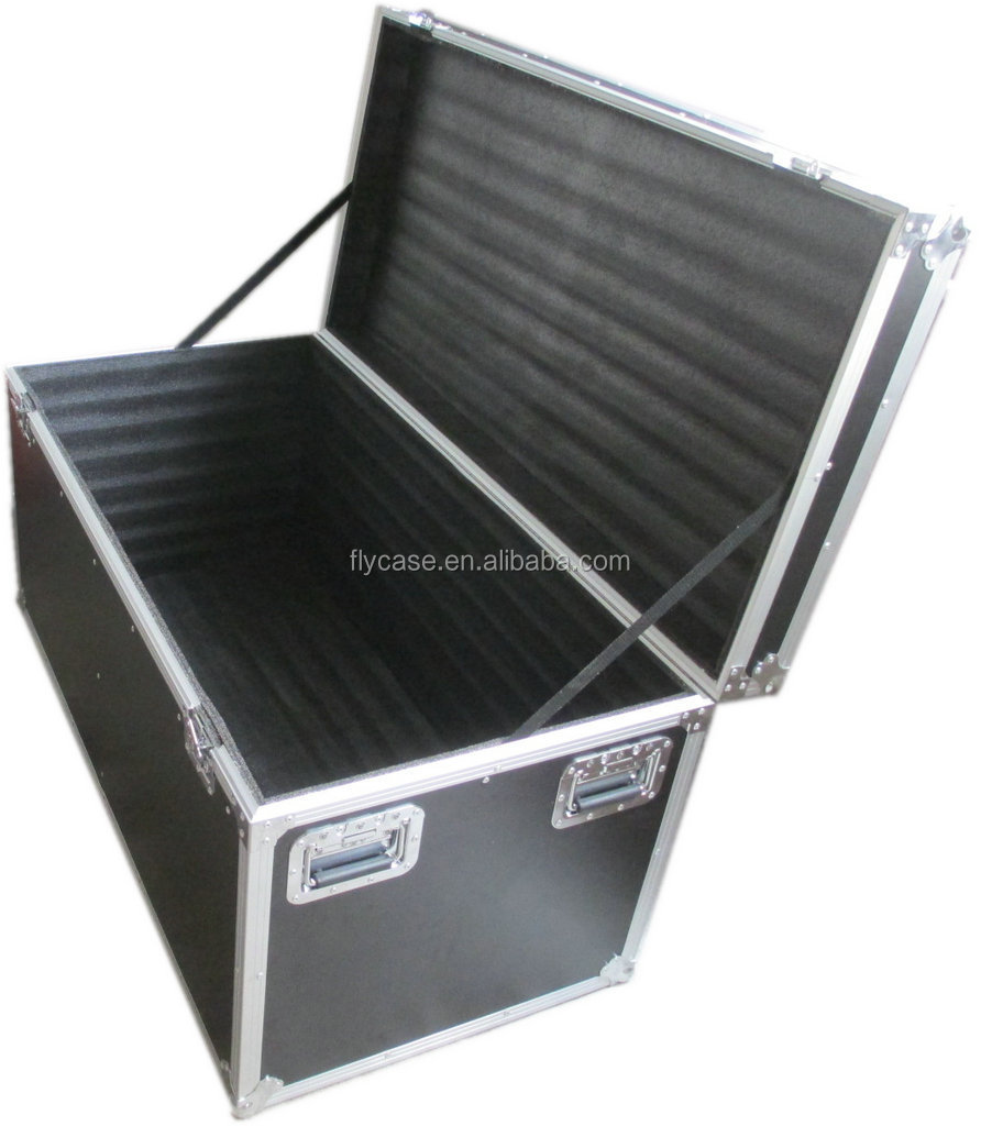 nonrust aluminum profile equipment flight case at reasonable price with safe butterfly locks wheels and shockproof foam inside