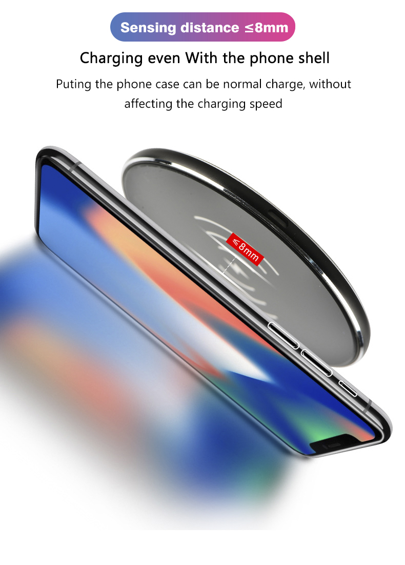 Factory direct universal qi mini quick mobile phone wireless charger 10w for Smartphone Samsung