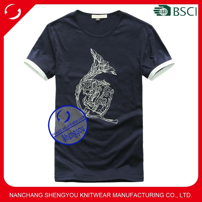 China T-shirt supplier custom mens printing t shirt with wholesale price