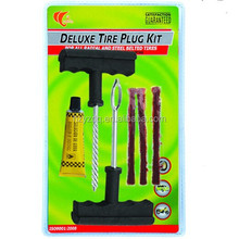 6pcs T-hanlde tire repair kit with seal string and glue