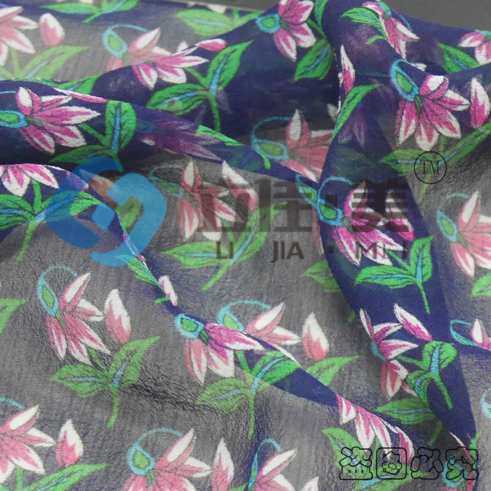 8MM Georgette Printed Silk Fabric