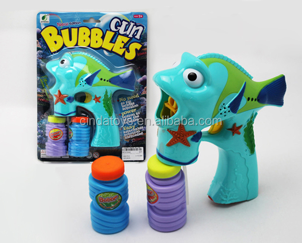 Happy summer toys children happy game,true color Spray paint music bubble gun for kids