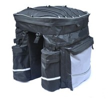 Waterproof Bicycle Tail Bag Bike Double Rear Rack Pannier Bag Safety Bicycle Saddle Bag With Reflective Of Design