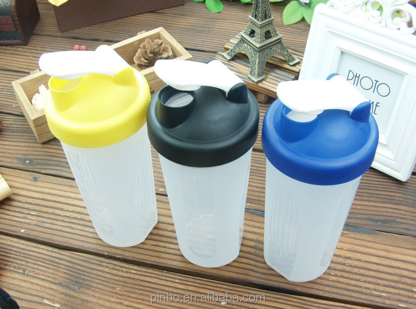 customized plastic pp shake bottle with ball