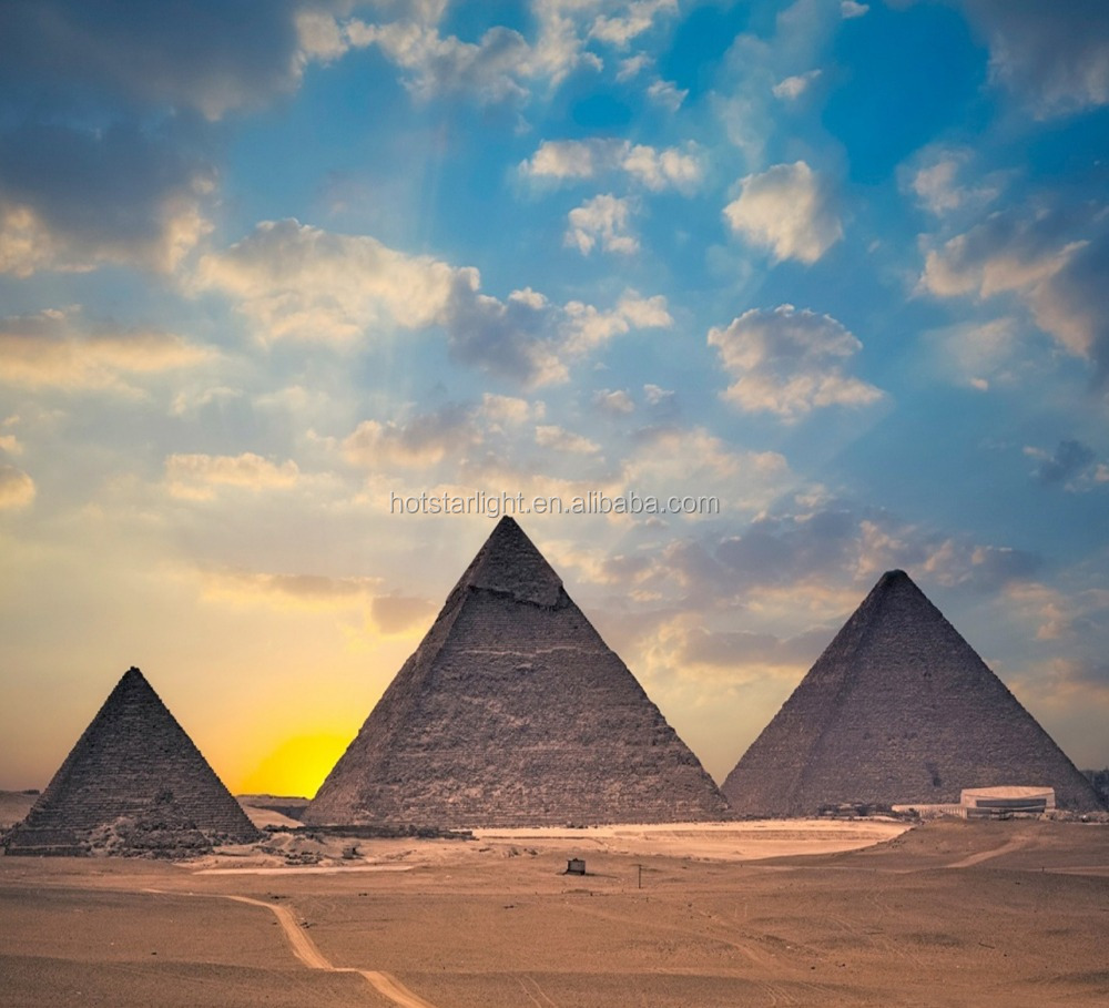 New Fashion 50x55cm Egyptian Pyramids View 3d Oil Painting on canvas