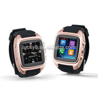 Black,gold ,silver super smart highest quality digital Android 4.4 GSM wifi smart watch X01