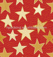 Star gift wrapping paper in roll