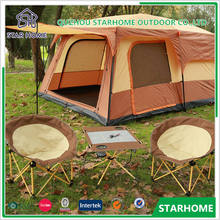 210D Oxford PU 3000mm Floor big family tent outdoor canvas bell tent for sale disaster relief tent