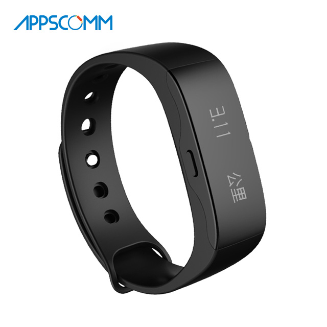2017 APPSCOMM Smart Watch Fitness Tracker Bluetooth Wristband Waterproof Wristwatch Android and iOS Activity Tracker