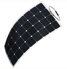 Best selling photovoltaic cells semi flexible solar panel 100W 18V wholesale competitive price