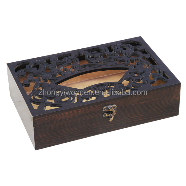 High quality craft custom tabletop accessory wooden tissue box