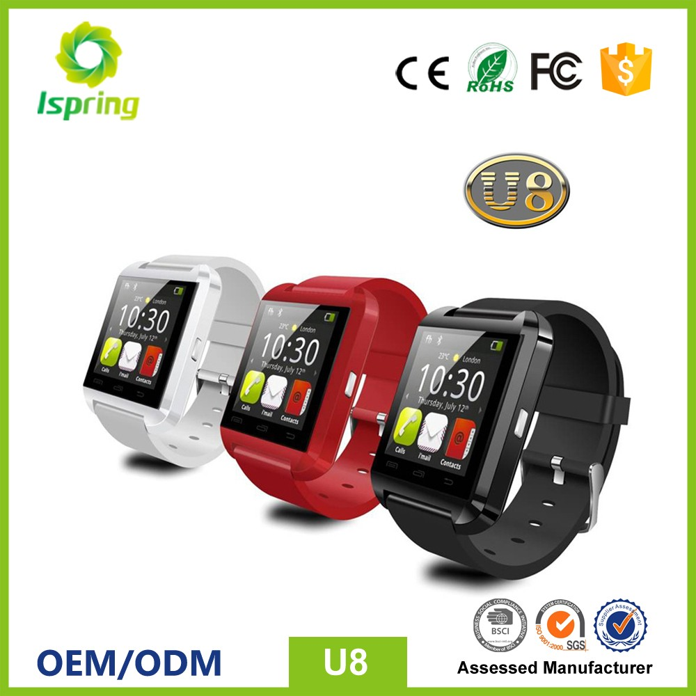 New Bluetooth Smart Watch U8 Wrist Wrap Watch Phone for IOS Apple iphone 4S/5S/6/7 Android Samsung S5/S6/S7/Note 5/Note 6/Note 7