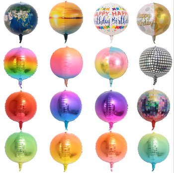 2019 New Wholesale 22-inch Colorful 4D Aluminum Foil Balloon For Party Decorations