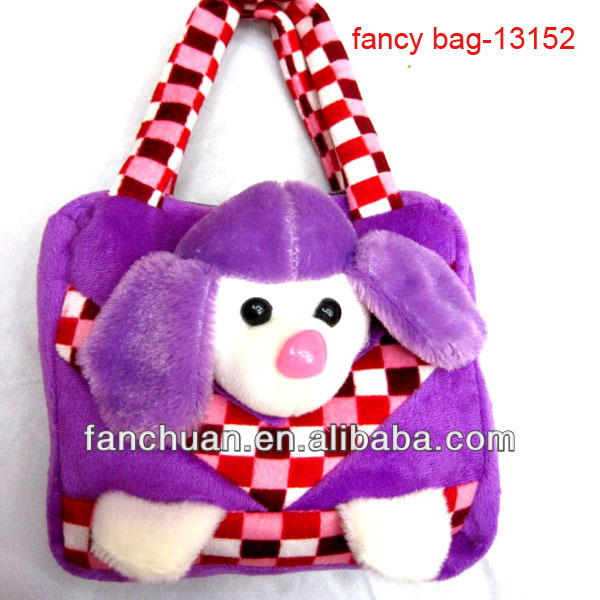 Monkey Tartan Design Kid Hand Bag