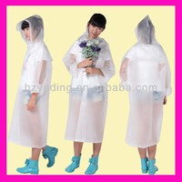 EVA/PVC clear long robertson rainwear for adult