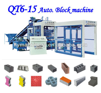 Fully automatic concrete block making machine price in india QT6-15 concrete blocks making machine