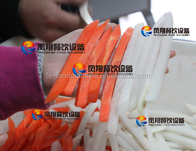 FC-502 stainless steel potato strip cutter, automatic french fry potato chip shredding machine