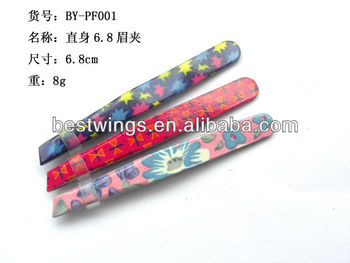 2013 Stainless Steel Tweezer with coating Beauty Eyebrow Tools