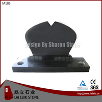 China Polished Black Funeral Monument