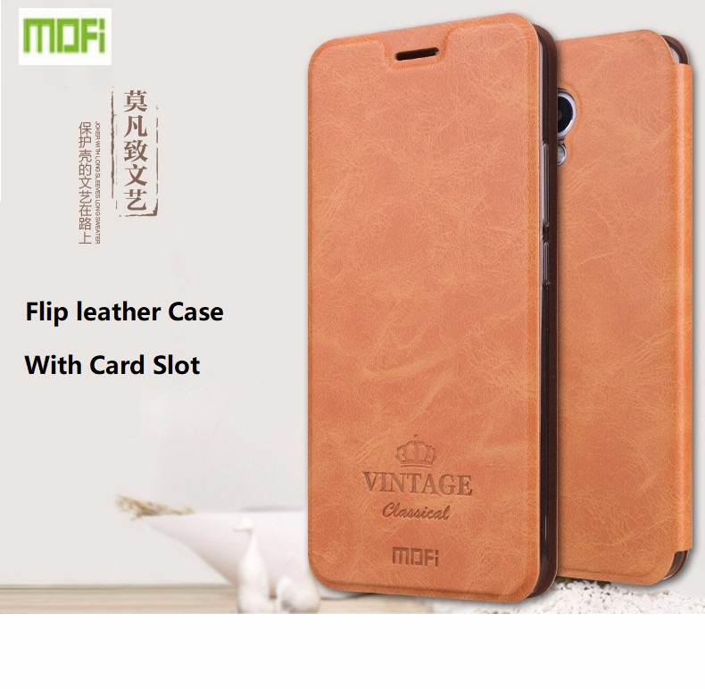 Wholesale Origianl Mofi Brand Flip Leather Cell Phone Card Stand Cover For Meizu M3 M5 M5S Note Case