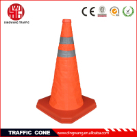Protable retractable traffic cone