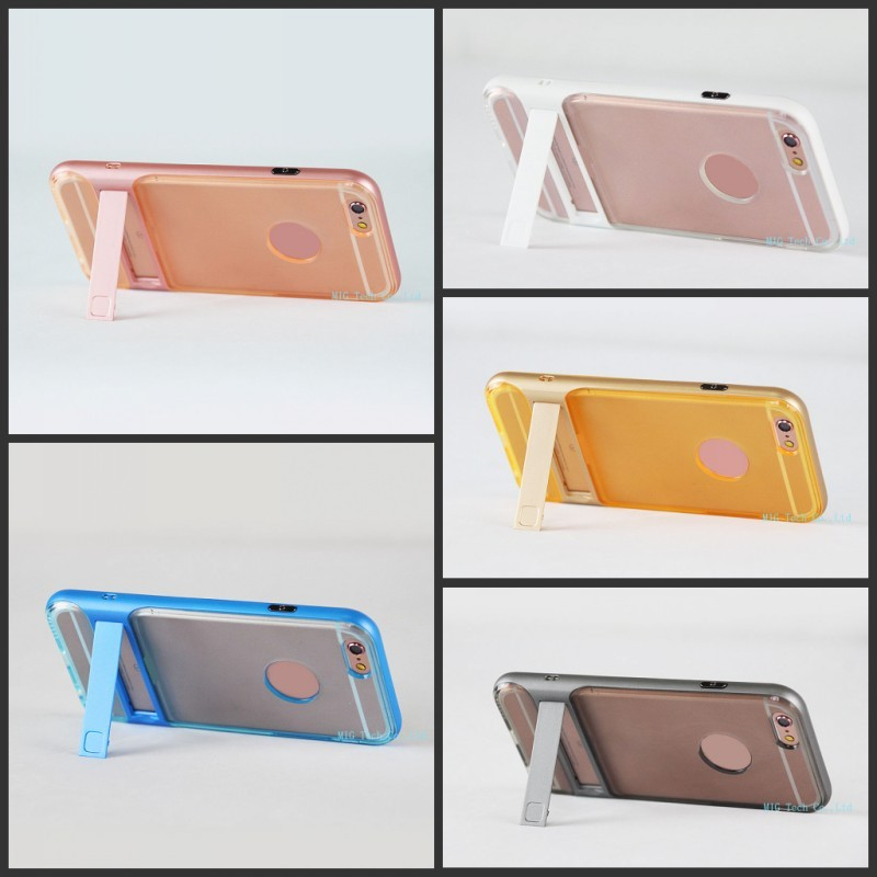 Soft TPU Material Hard Plastic Kickstand Free Sample Luxury Cell Phone Case for iPhone 8 for iPhone 7 7 Plus for iPhone 6 6s