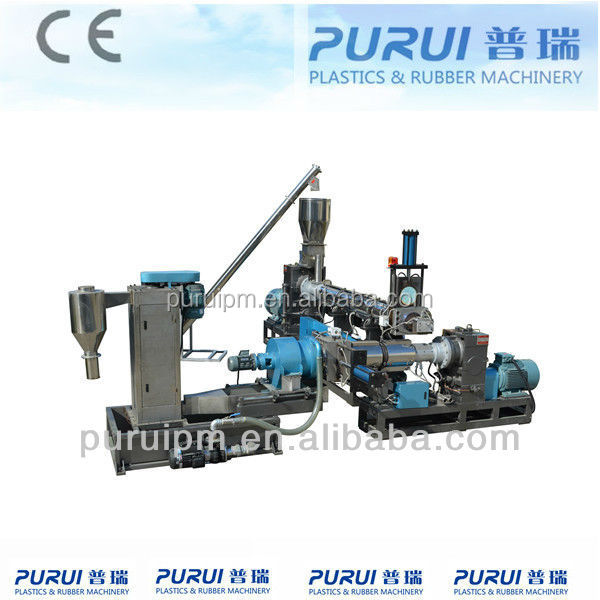 waste plastic recycling machinery for granulation