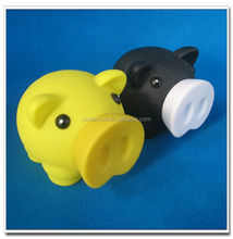 Novelty plastic pig shape piggy bank