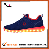 2016 Hot selling men LED running shoes,original design LED running shoes with high quality