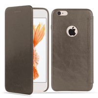 Luxury leather mobile phone case Real Cow leather Slim Fit cell Phone case for Iphone 6 plus