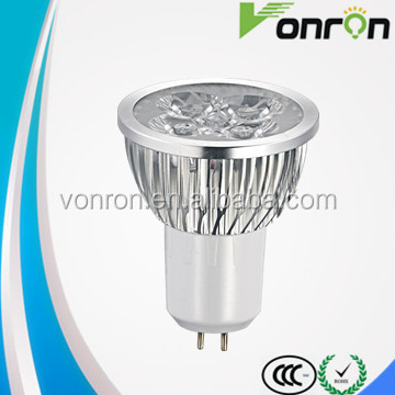 Led Energy saving cool white 6000K 4w GU10 LED Spotlight Aluminium