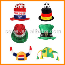 S00492 party soccer team supporter cheering fun hat/ football fans hat