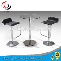 Wholesale bar glass top cocktail table