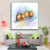 Home decor British street oil painting on canvas abstract city giclee painting frameless  painting wall art