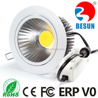 High light efficeiency BESUN 2015 NEW cob led downlight 6W-50W + LIFUD driver with UL SAA TUV PSE CQC CB CE FCC
