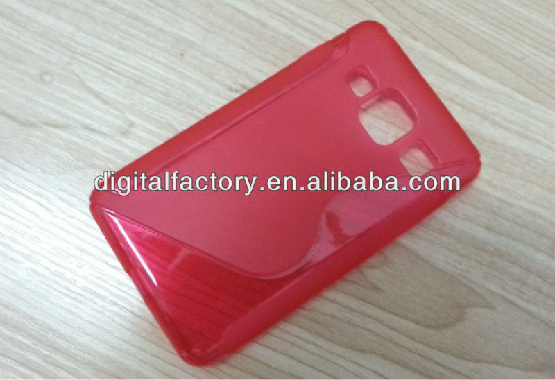 Frosted Protective TPU Back Case for Samsung Galaxy S4 / i9500 - Red