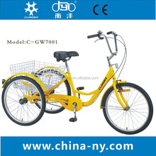 6 speeds 3 wheels adult pedal china tricycle
