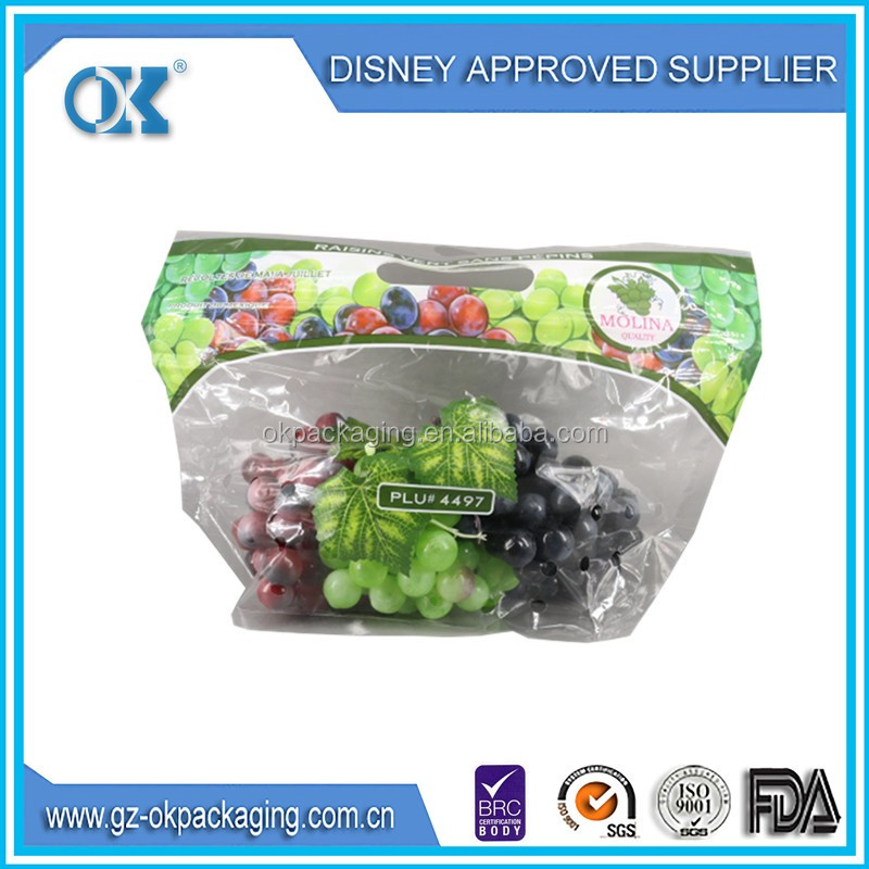plastic grape pouch Bag