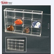 Acrylic Glass Display Case for Rocks, Minerals, Thimbles & Figurines
