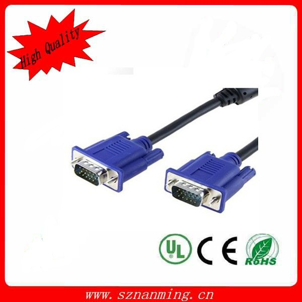 shenzhen factory wholesale HDB 15 VGA cable male to male Cable for monitor computer HDTV