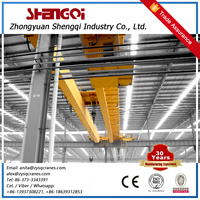 Shengqi Improved Double Girder Industrial Overhead Bridge Crane 65 Ton Monorail Crane