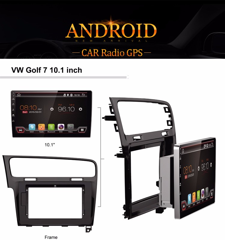 10.1 Inch Quad Core Car Radio GPS with Supported Drags and ATV and IPHONE for VW golf 7