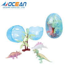 Wholesale gift items promotional mini soft egg dinosaur with tree for children