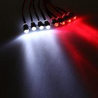 RC 1:10 LED Light Kit White And Red 5mm Revo Jato Traxxas Slash HPI Futaba Plug