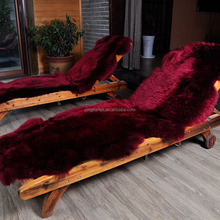 Custom Red dyed 2P Decorative White sheepskin Rug for bed