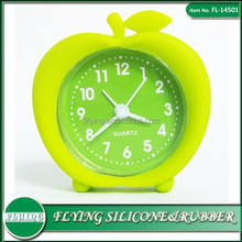 2015 Fashion Apple shape OEM Silicon Alarm Clock