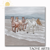 DY028 Handmade canvas painting art wall horse 3d oil painting on canvas