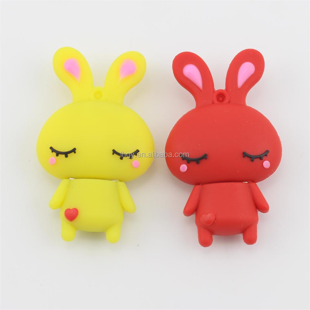Mini cute animal shape 3d usb flash drive rabbit usb driver 8gb 16gb